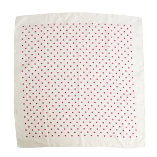 Faconnable pink and white polka dot scarf