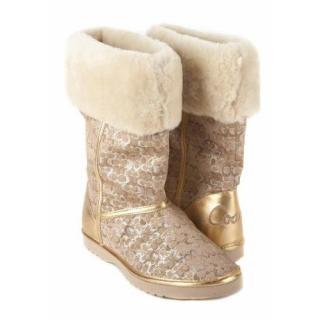 Coach gold nikole boots