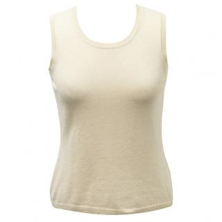 Malo cashmere sand sleeveless jumper
