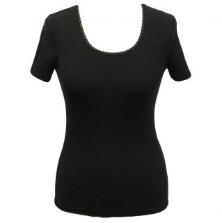 Hanro ribbed black top