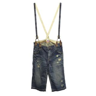 PRPS distressed short dungarees