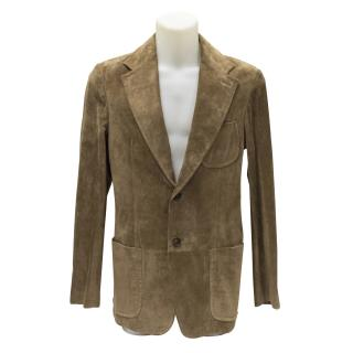 New Gucci mens suede blazer jacket