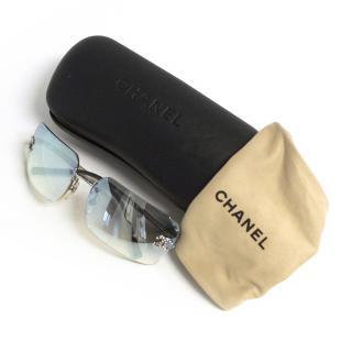 Chanel blue tone sunglasses