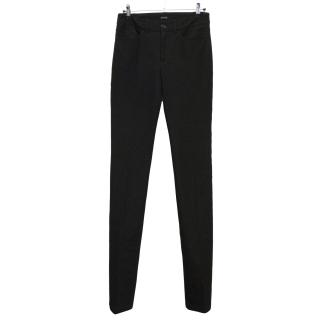 Joseph black denim trousers