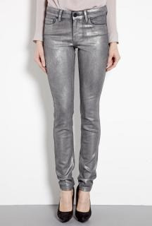 2nd day sin silver metallic coated skinny jeans