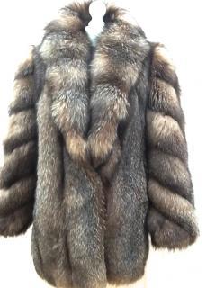 Crystal Bronze  Canadian Fox Fur Coat