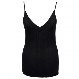 Theory black vest top