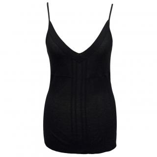 Theory black vest top