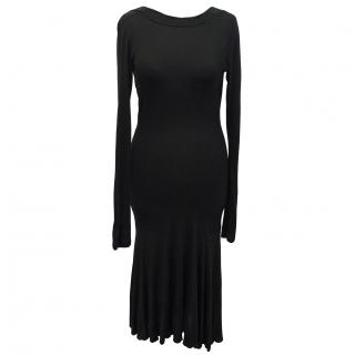 C.N.C Costume national black scoop neck dress