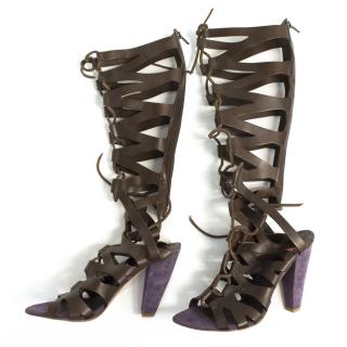 New Boss, Hugo Boss Coco seal combi gladiator sandals