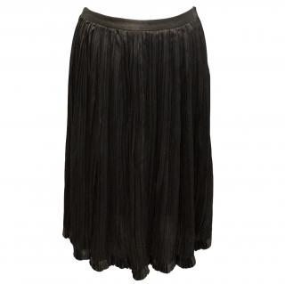 Derek Lam chocolate brown pleated skirt