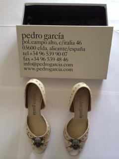 Pedro Garcia leather peep toes crystallized with swarovski.