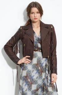 Sara Berman Salamander Fringed leather jacket