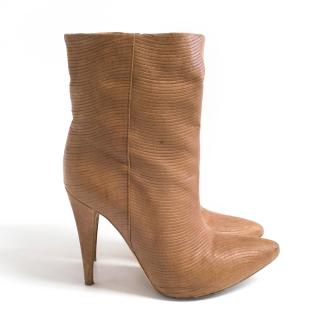 Loeffler Randal Cuffed Leather Ankle Boots