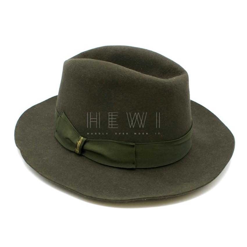 Borsalino Green Wool Fedora