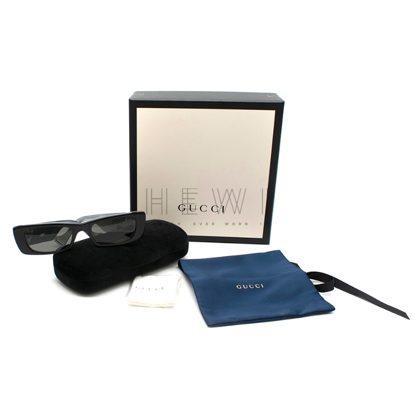 Gucci Rectangle pearlescent-acetate sunglasses - New Collection