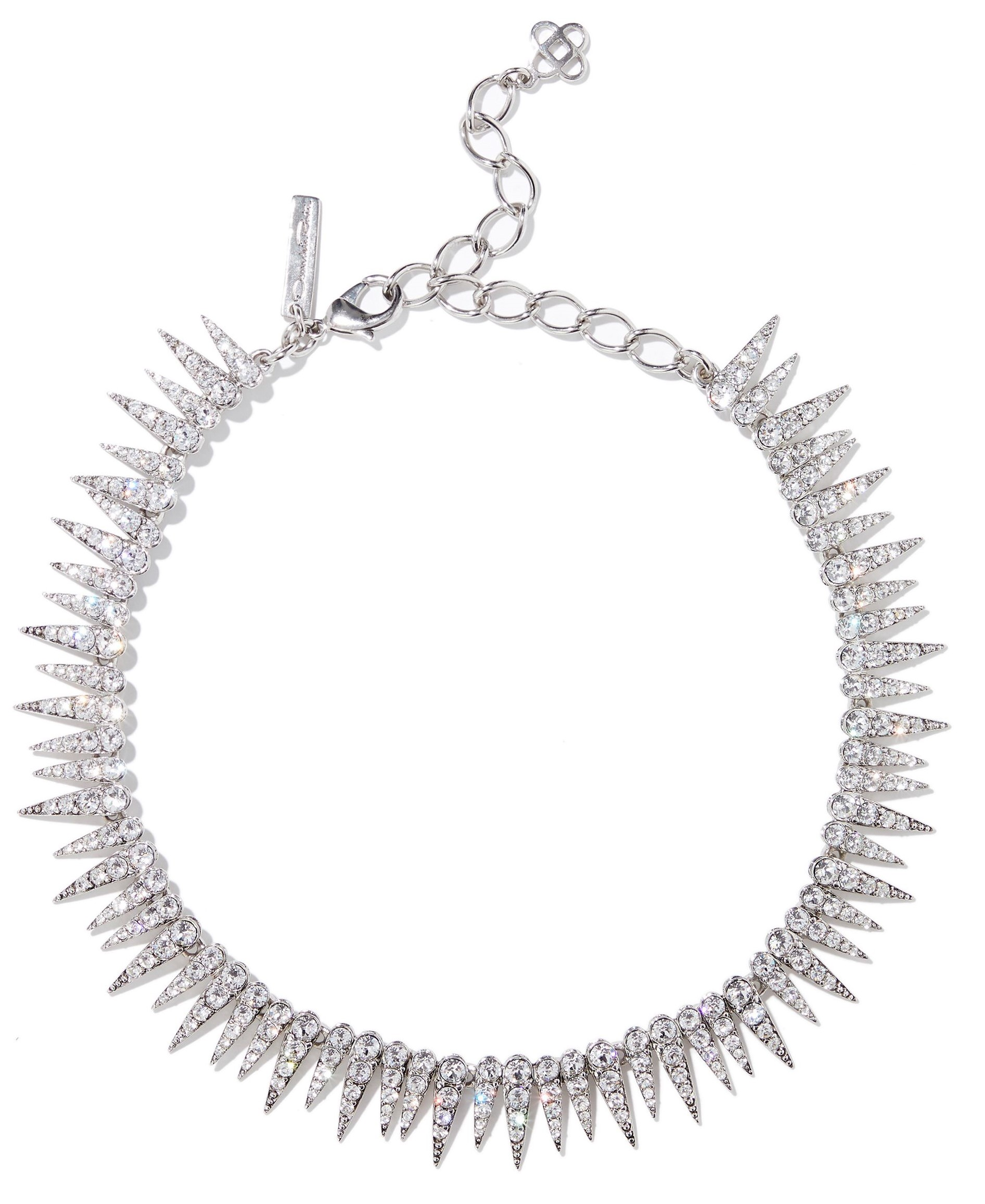 Oscar De La Renta Spiked Crystal Necklace