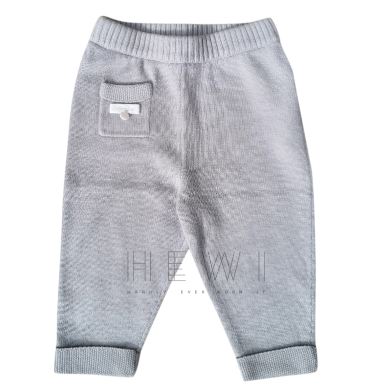 Baby Dior 3 month's grey cashmere trousers