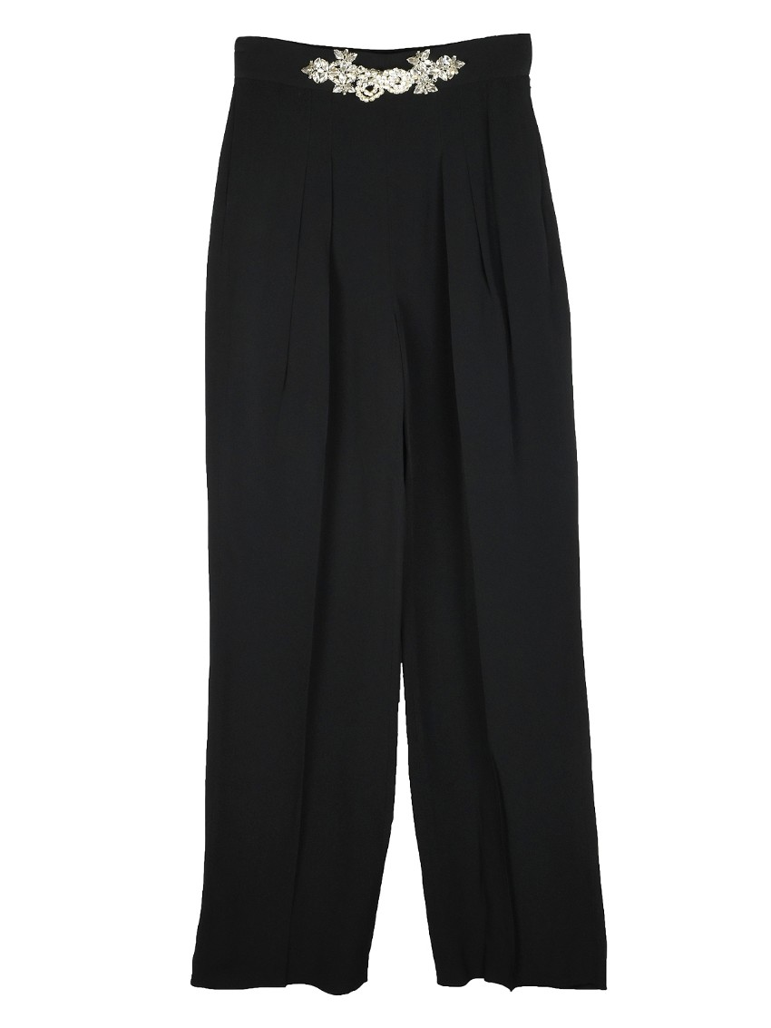 Christopher Kane embellished waistband crepe pants