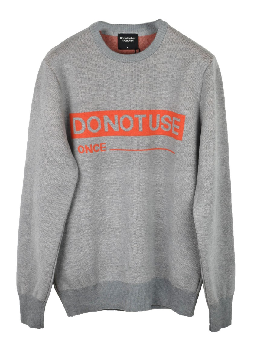 CHRISTOPHER RAEBURN DO NOT USE ONCE JACQUARD KNIT SWEATSHIRT