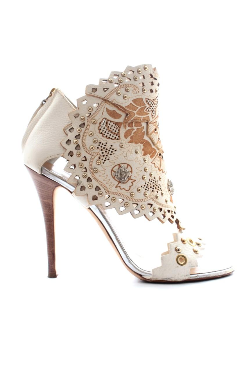 Giuseppe Zanotti laser cut sandals