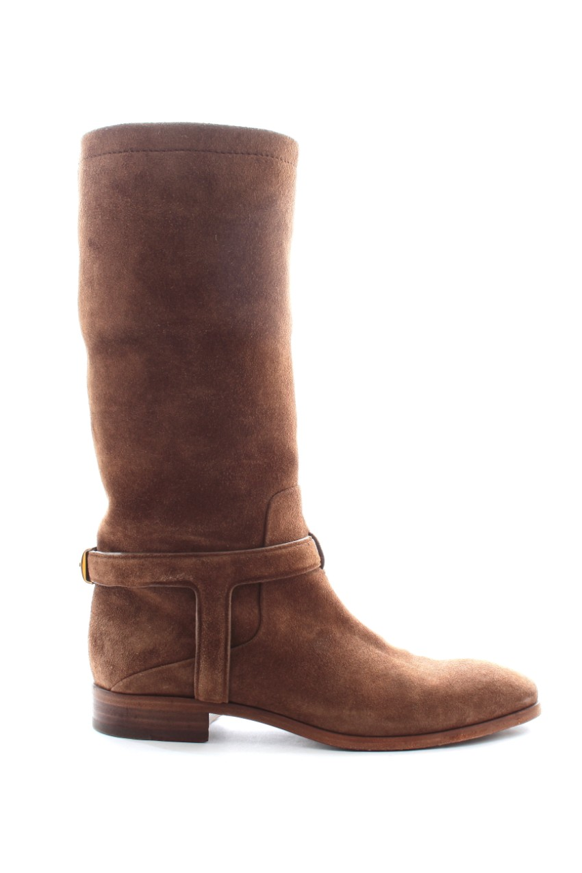 Dior tan suede riding boots