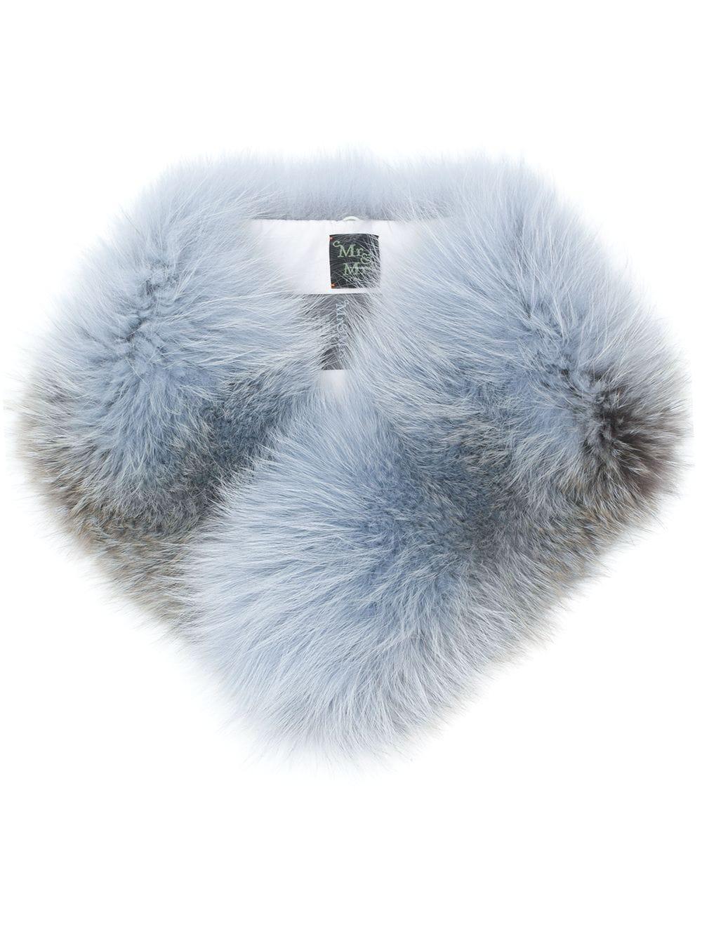 Mr & Mrs Italy Fox Fur Blue Collar