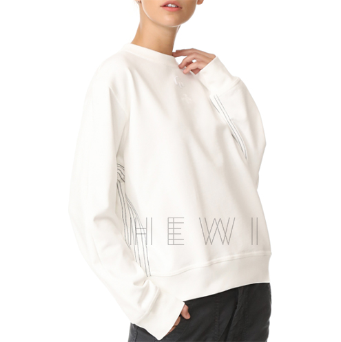Adidas X Alexander Wang Logo Crew Sweatshirt