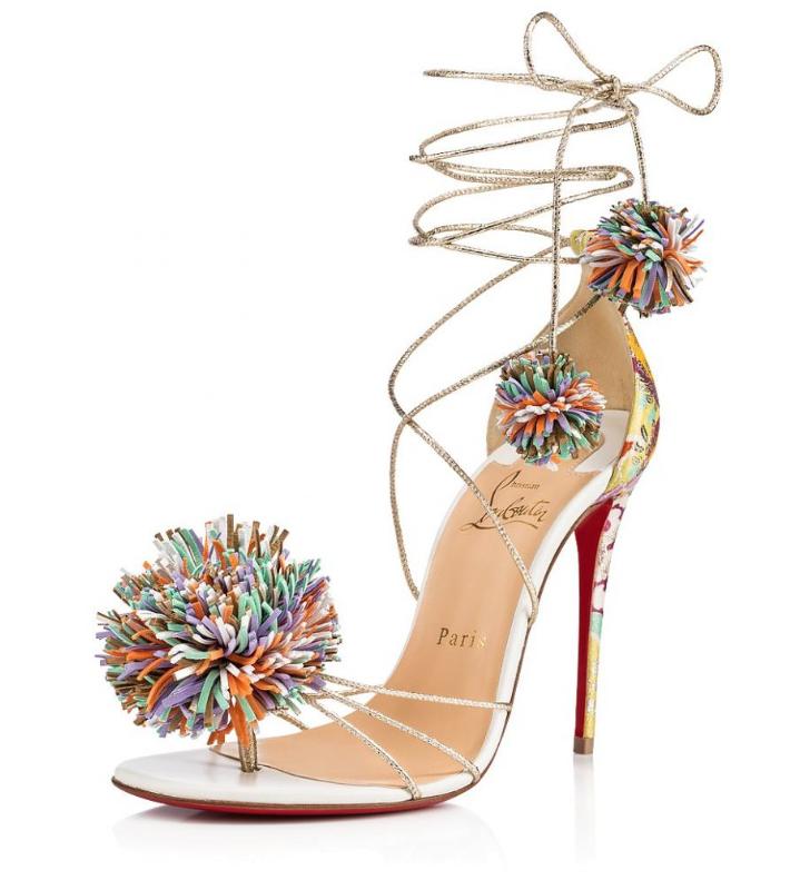 Christian Louboutin Nappa Suede Starouchi Sandals