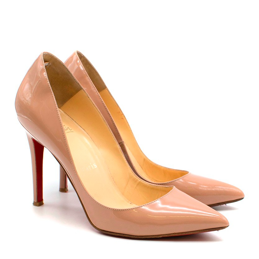Christian Louboutin Nude Patent Leather So Kate 100mm Pumps