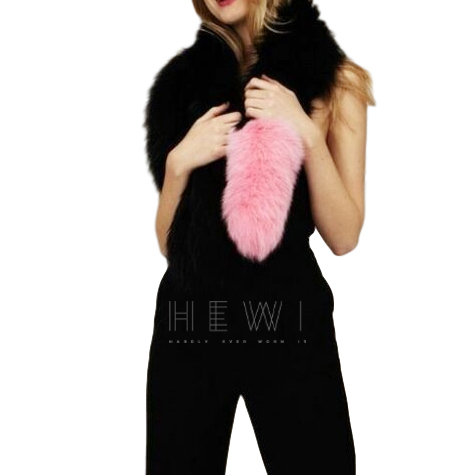 Charlotte Simone black and pink fox Popsicle scarf