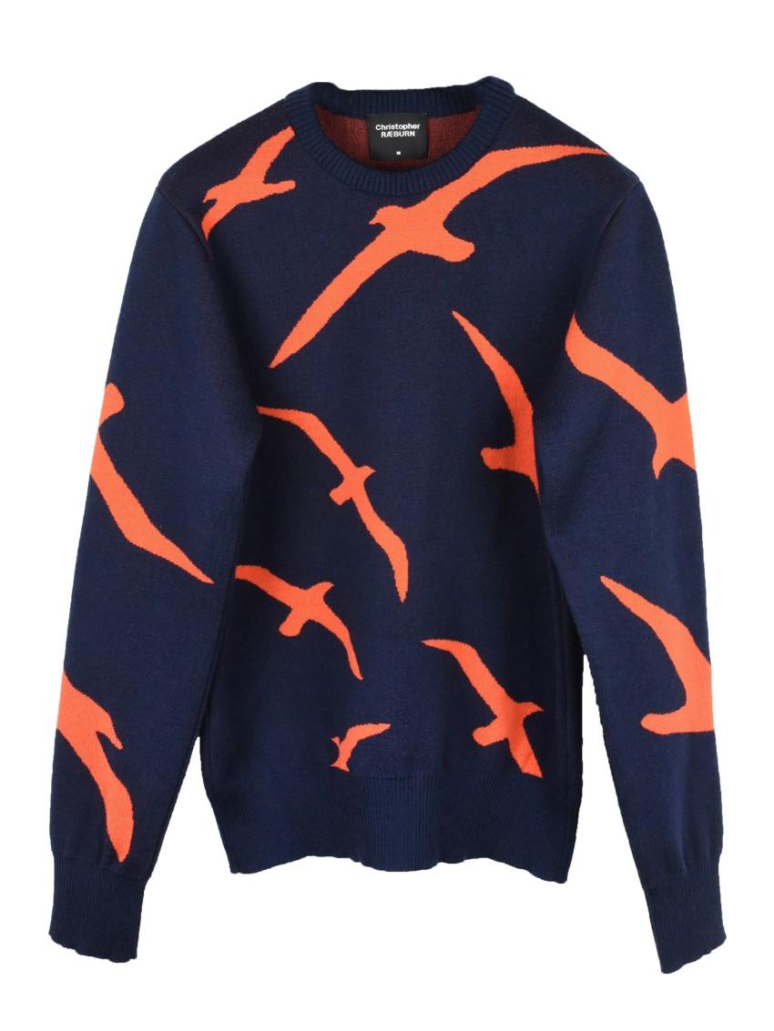 Finisterre x Christopher Raeburn Albatross Knit jumper.