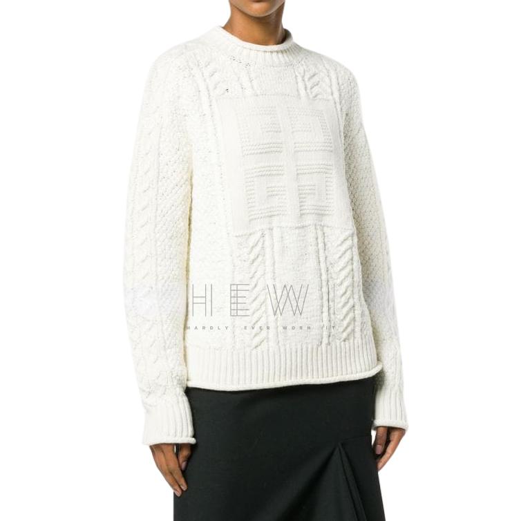 Givenchy Logo Knit Wool & Camel Blend Jumper