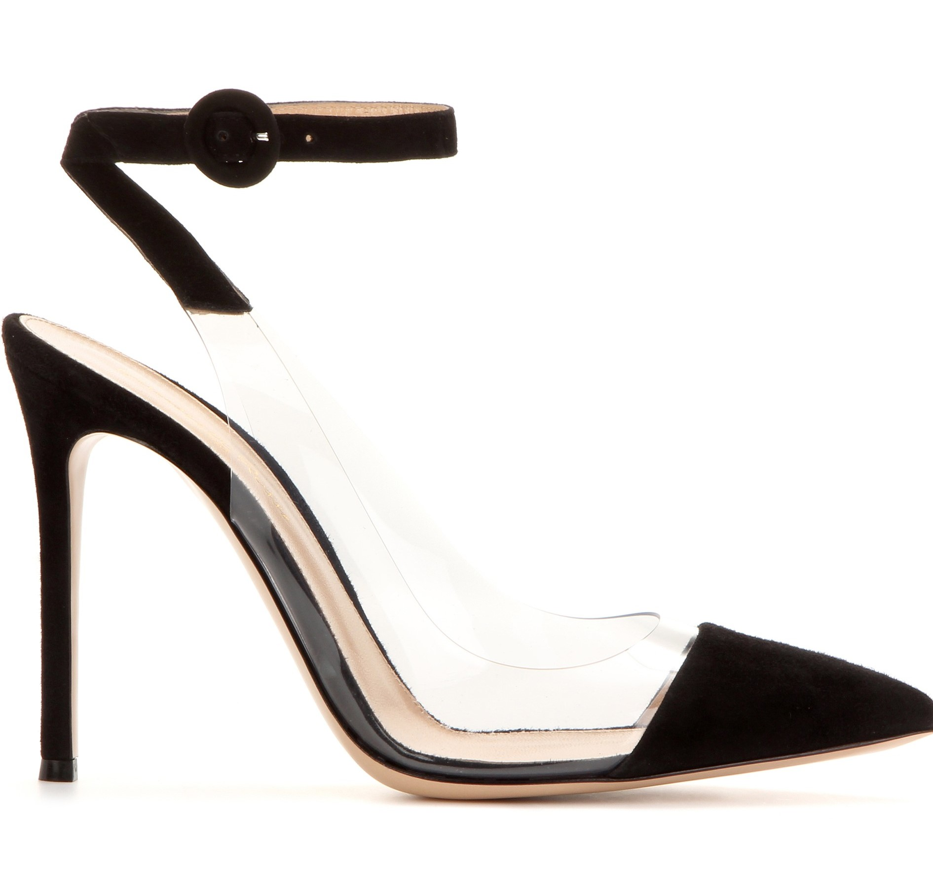 Gianvito Rossi Black Anise Suede Leather Pumps