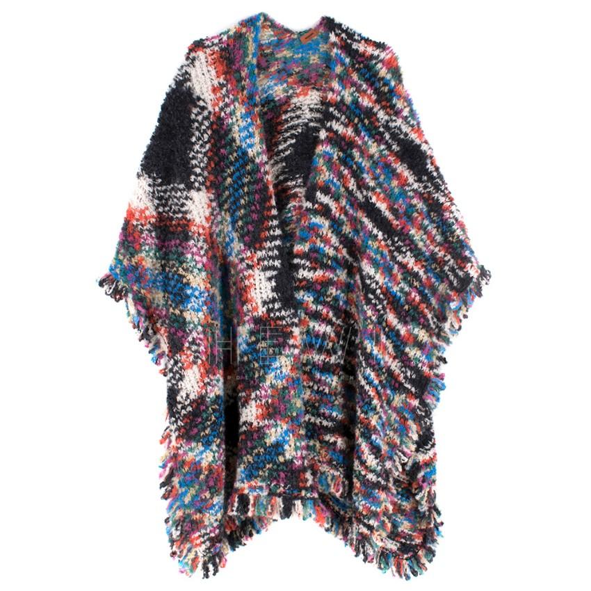 Missoni Wool Blend Multi-coloured Poncho