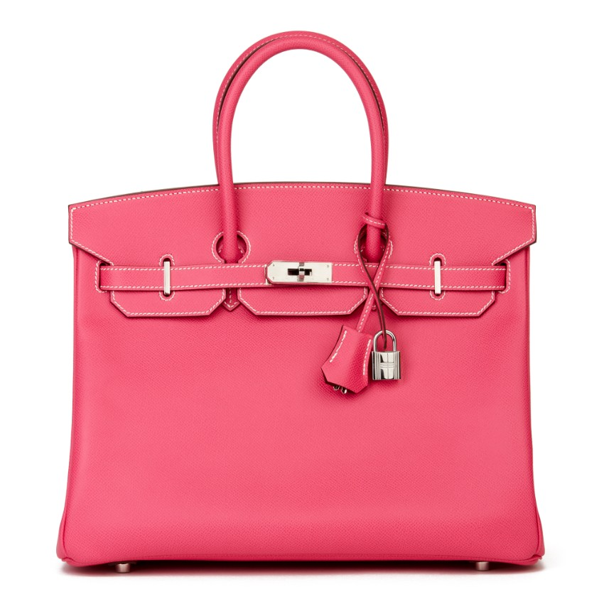 Hermes Candy Collection Rose Tyrien Bi-Colour 35cm Epsom Birkin