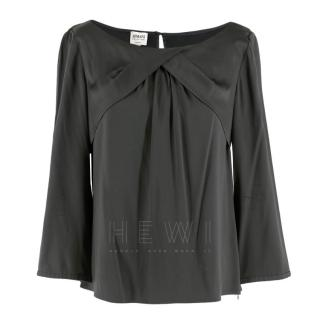 LR(Karen B)Armani Grey Silk Blouse