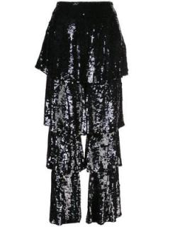 Osman black sequin felix trousers