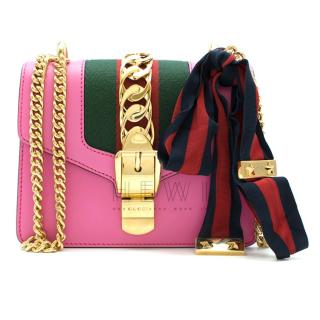 Gucci Pink Sylvie Leather Mini Chain Bag - New Season