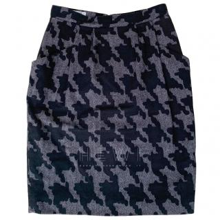 Moschino Cheap & Chic Houndstooth wool skirt