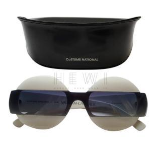Costume National White Round Sunglasses