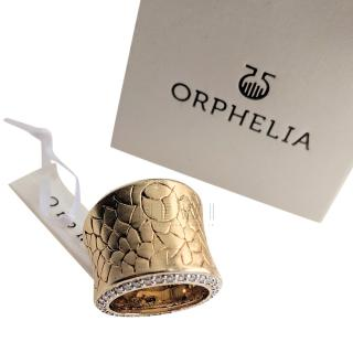 Ophelia gold metal and crystal ring
