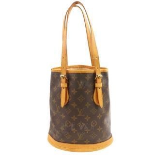 Louis Vuitton Brown Monogram Bucket PM  Tote Bag