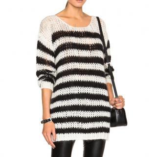 Saint Laurent Wool Oversize Striped Sweater