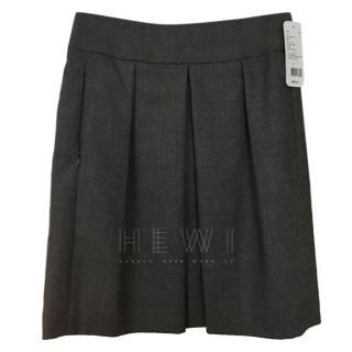 Kris grey pleated wool skirt