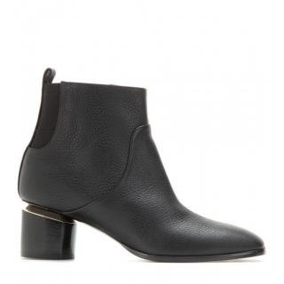 Nicholas Kirkwood Black Triangle Leather Ankle Boots