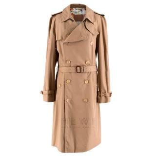 Gucci Gabardine Camel Trench Coat