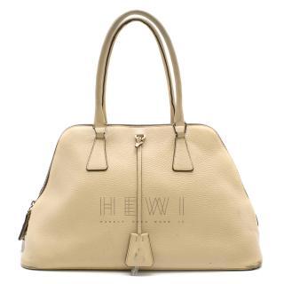 Prada Cream Leather Shoulder Bag