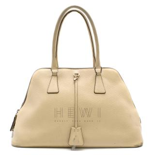 Prada Cream Leather Shoulder Bag