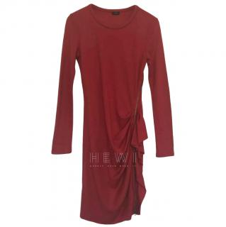 Jospeh size-zipped ruffle red dress
